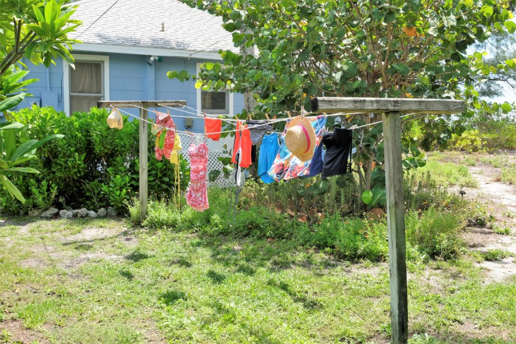 A sure sign of summer-- the clothesline is full