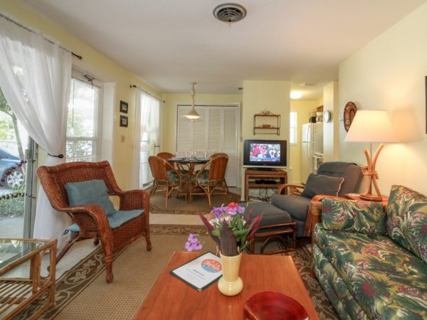 Garden Apartment 4 Living Room Anna Maria Island