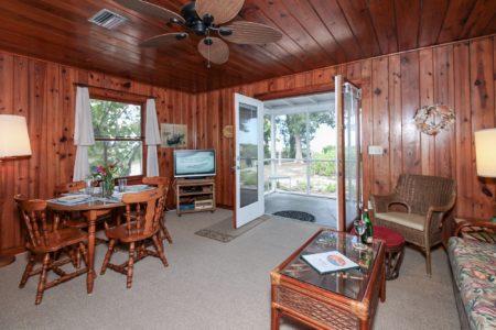 Cottage 1 living room Bamboo Apartments Anna Maria Island