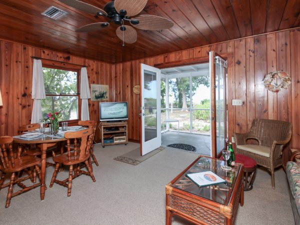 Duplex Cottage C1 living room Bamboo Apartments Anna Maria Island