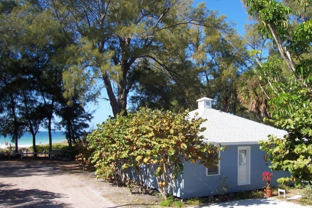 Cottage from road Bamboo Apartments Anna Maria Island, Florida