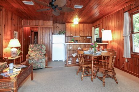 Cottage 1 Bamboo Dining Area