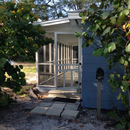Cottage 1 Bamboo Porch Door