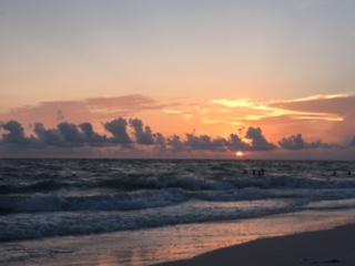 sunset on beach florida anna maria island