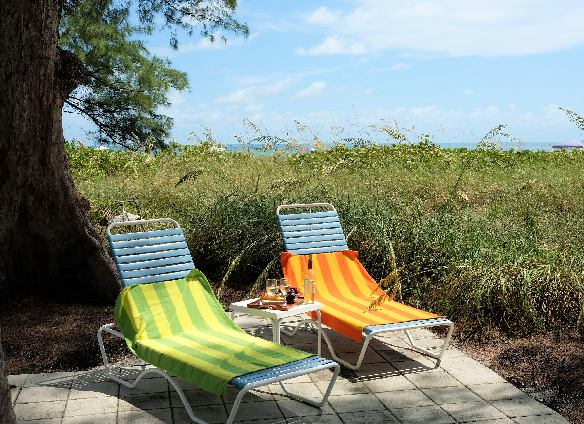 Wine and Chairs Bamboo Apartments Anna Maria Island, Florida