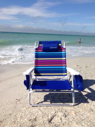 New beach chair