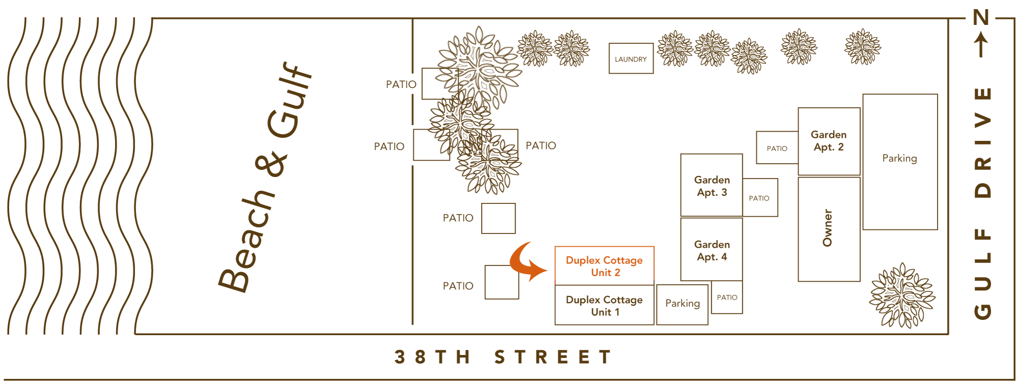 Duplex Cottage C2 Site Plan
